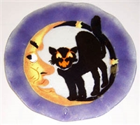 Cat and Moon 14 inch Plate