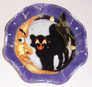 Cat and Moon 9 inch Bowl
