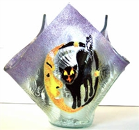 Cat and Moon Large Candleholder
