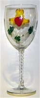Claddagh White Wine Glass