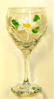 Daisy Red Wine Glass