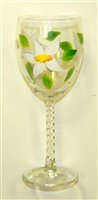 Daisy White Wine Glass