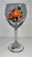 Fall Harvest Red Wine Glass