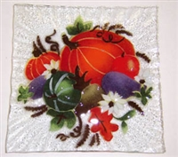 Fall Harvest Small Square Plate