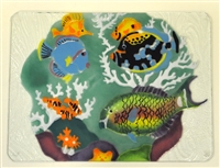 Tropical Fish Large Teal Tray (Insert Only)