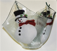 Frosty Large Candleholder