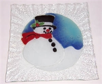 Frosty Small Square Plate