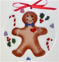 Gingerbread 7 inch Suncatcher