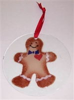 Gingerbread Boy Suncatcher