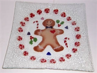 Gingerbread Large Square Plate