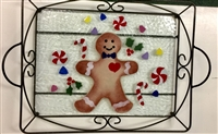 Gingerbread Large Tray (with Metal Holder)