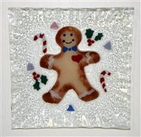 Gingerbread Small Square Plate