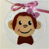Girl Monkey Suncatcher