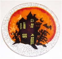 Haunted House 9 inch Plate