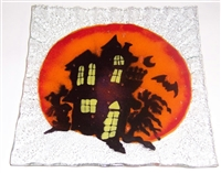Haunted House Small Square Plate