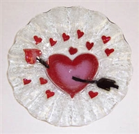 Heart with Arrow 7 inch Bowl