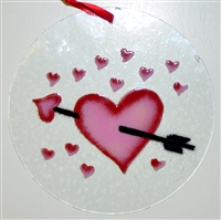 Heart with Arrow 7 inch Suncatcher