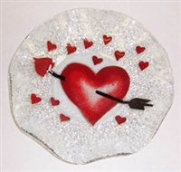 Heart with Arrow 9 inch Bowl
