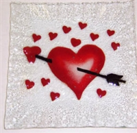 Heart with Arrow Small Square Plate