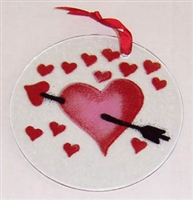 Heart with Arrow Suncatcher