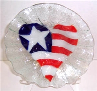 Heart Flag 7 inch Bowl