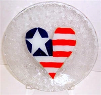 Heart Flag 9 inch Plate