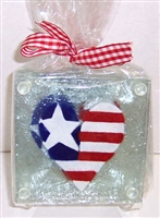 Heart Flag Coasters