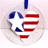 Heart Flag Suncatcher