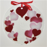 Hearts 7 inch Suncatcher