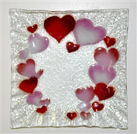 Hearts Small Square Plate