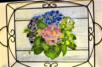 Hydrangea Large Tray (with Metal Holder)
