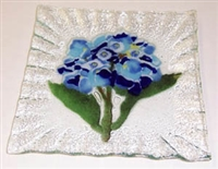 Hydrangea Blue Small Square Plate