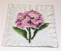 Hydrangea Pink Small Square Plate