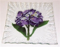 Hydrangea Purple Small Square Plate