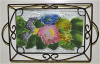 Hydrangea Small Tray (with Metal Holder)