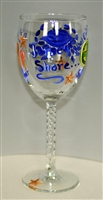 Jersey Shore White Wine Glass
