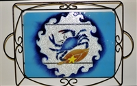 Large Blue Claw Crab Tray (with Metal Holder)