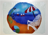 Large Bold Beach Scene Tray (Insert Only)