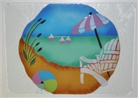 Large Pastel Beach Scene Tray (Insert Only)