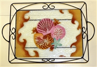 Large Sea Shell Tray (with Metal Holder)