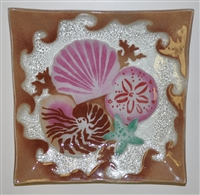 Large Square Sea Shell Platter