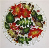Fall Leaves 10.75 inch Plate