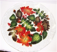 Fall Leaves 12 inch Platter