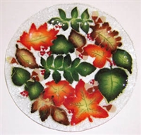 Fall Leaves 14 inch Platter
