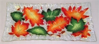 Fall Leaves Rectangle Plate