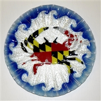 Maryland Flag Crab 10.75 inch Plate