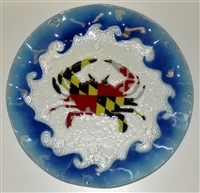 Maryland Flag Crab 12 inch Plate