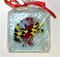 Maryland Flag Crab Coasters