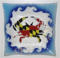 Maryland Flag Crab Large Square Plate