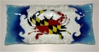 Maryland Flag Crab Rectangle Plate